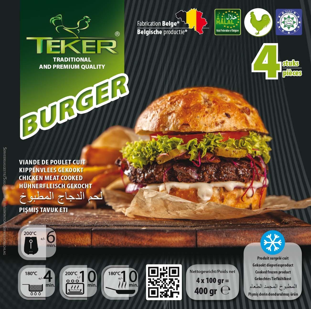 TEKER BURGER 4ST