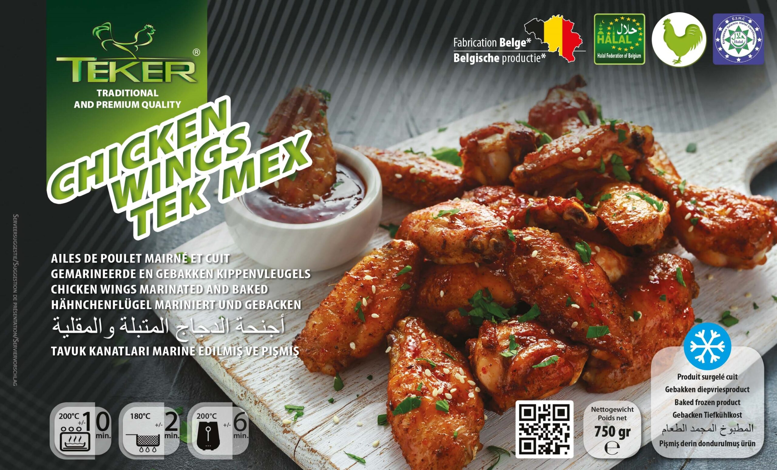 TEKER CHICKEN WINGS TEKMEX 750GR