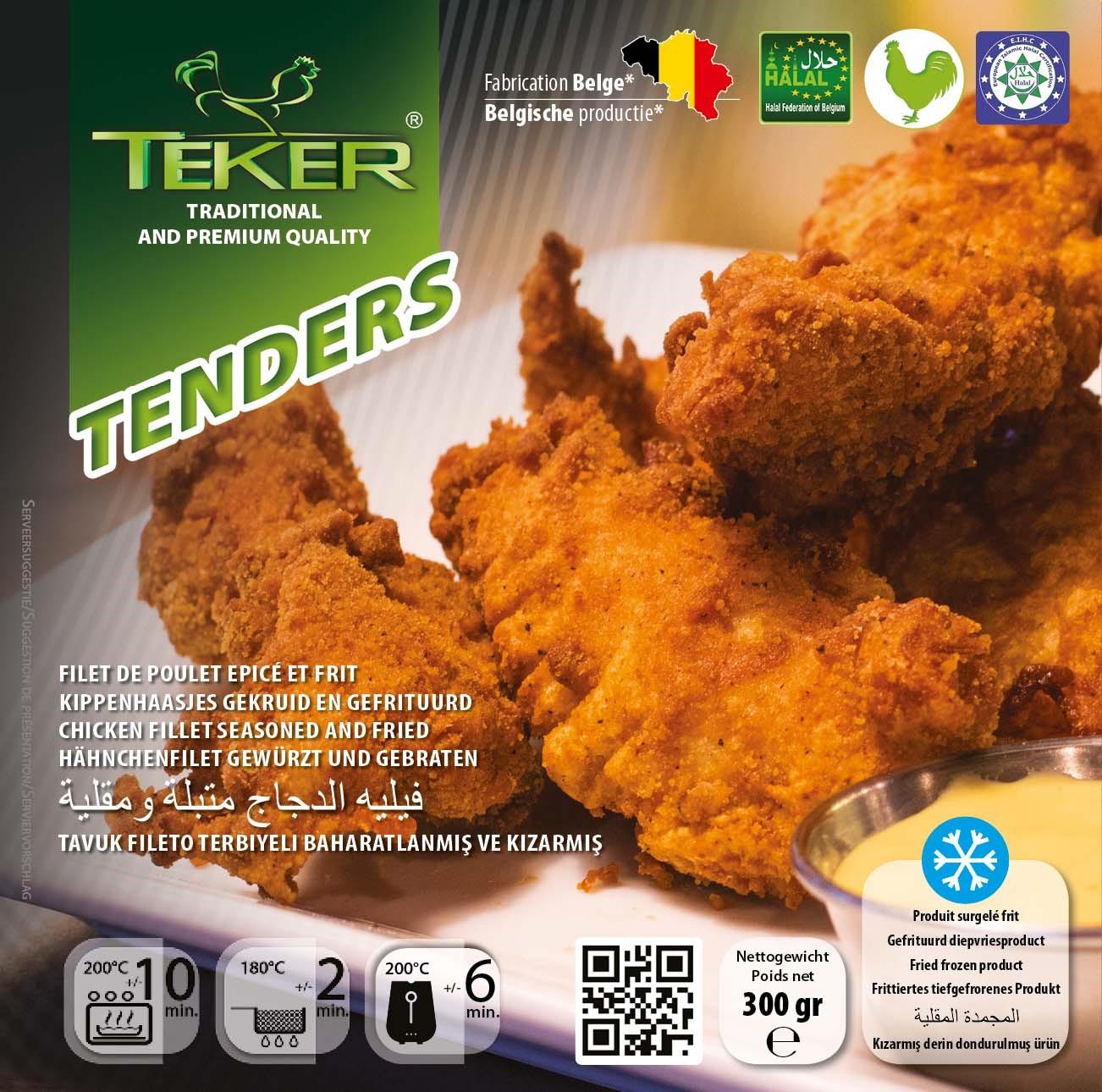 TEKER TENDERS 300GR VOORAANZICHT